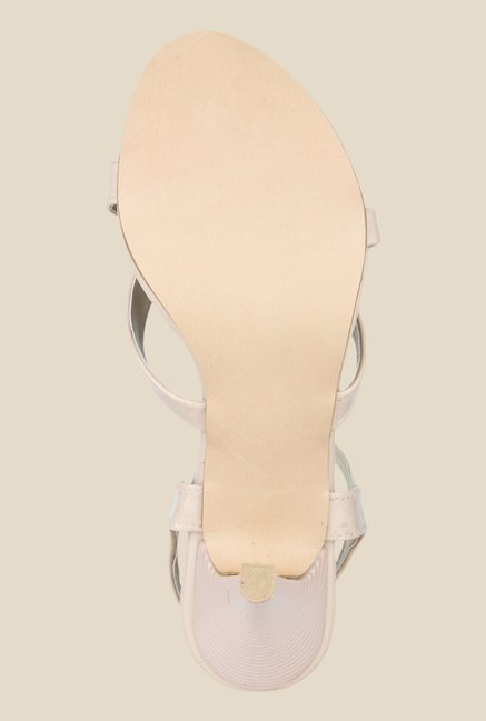 Shoetopia Beige Sling Back Sandals