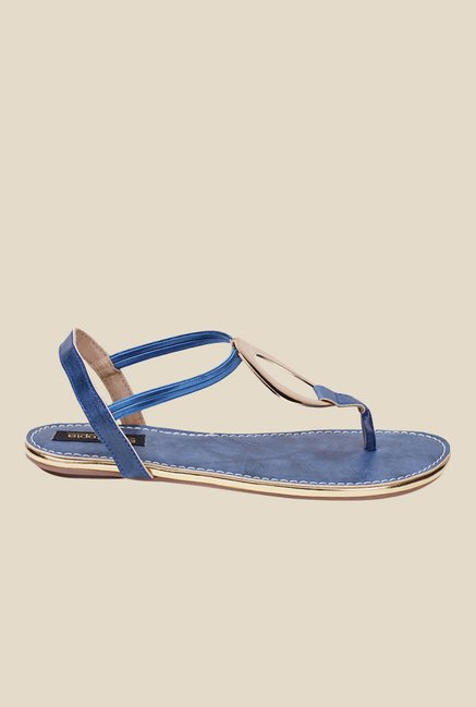 Shoetopia Navy Sling Back Sandals