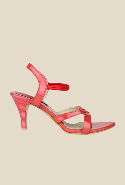 Shoetopia Red Sling Back Sandals