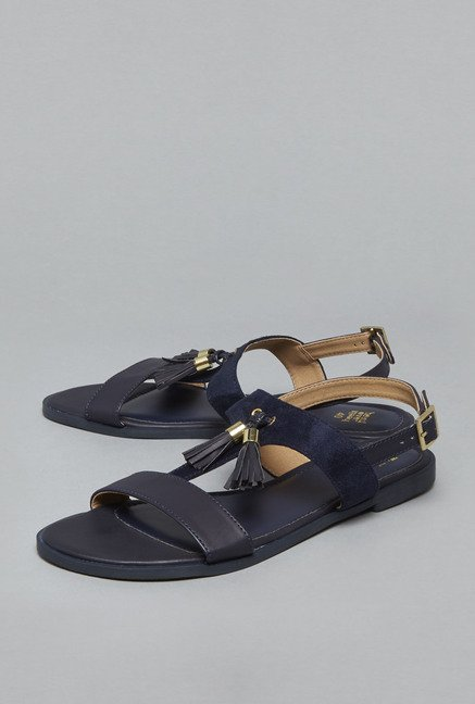 Boho by Westside Navy Flat Sandals