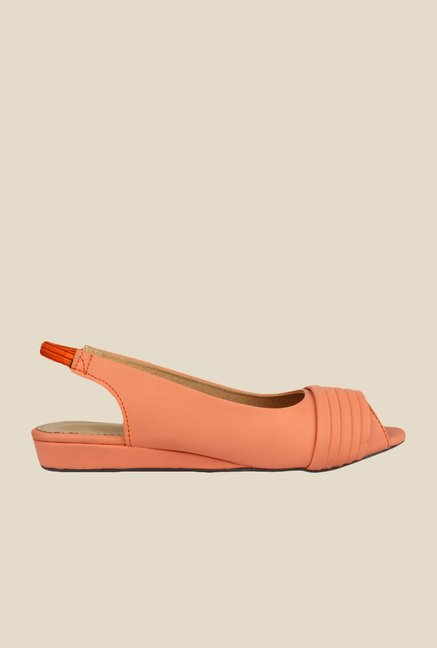 Shoetopia Orange Sling Back Sandals