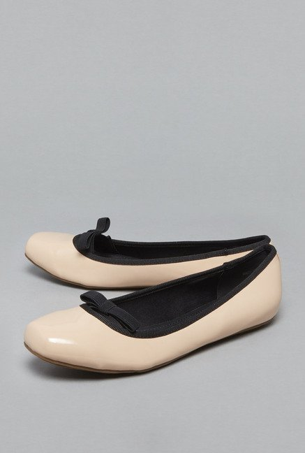 Head Over Heels by Westside Beige Ballerina Shoes