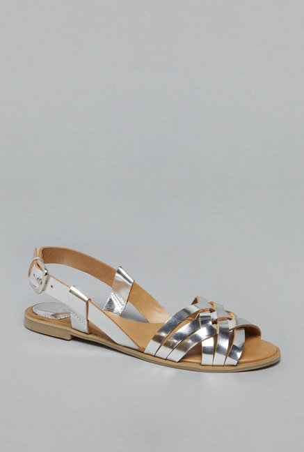 Head Over Heels by Westside Silver Flat Sandals