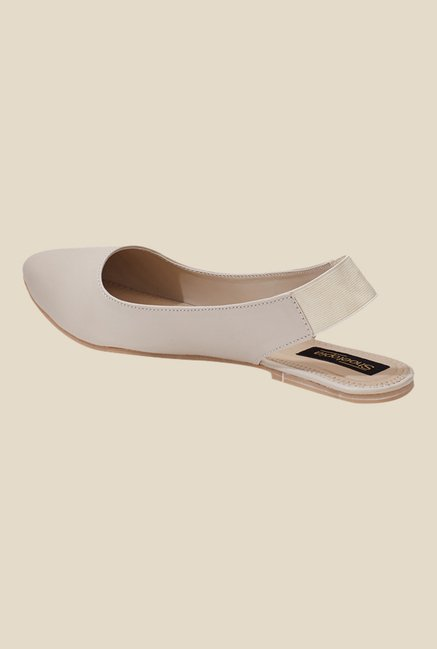 Shoetopia Cream Sling Back Sandals