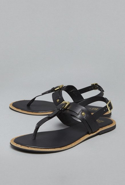 Head Over Heels by Westside Black Flat Sandals