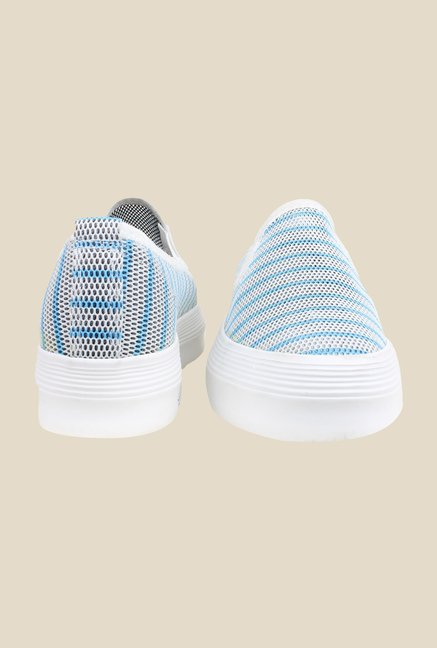 Shoetopia White & Blue Plimsolls