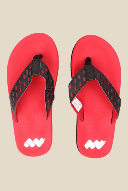 Spunk Shadow Black & Red Flip Flops