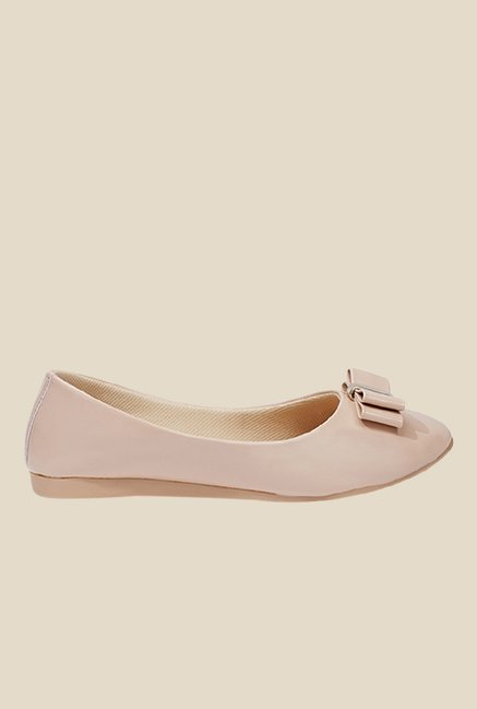 Shoetopia Cream Flat Ballets