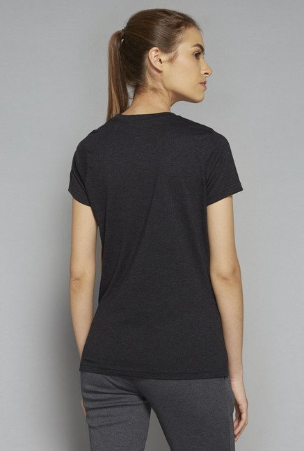 Westsport by Westside Black Printed T Shirt