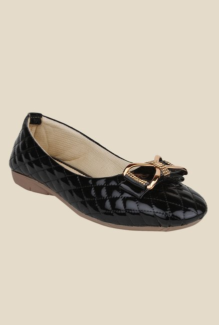 Shoetopia Black Flat Ballets