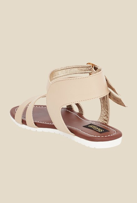 Shoetopia Cream Ankle Strap Sandals