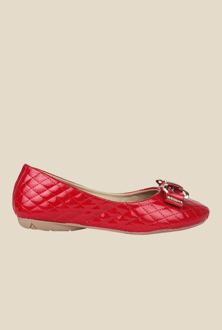 Shoetopia Red Flat Ballets