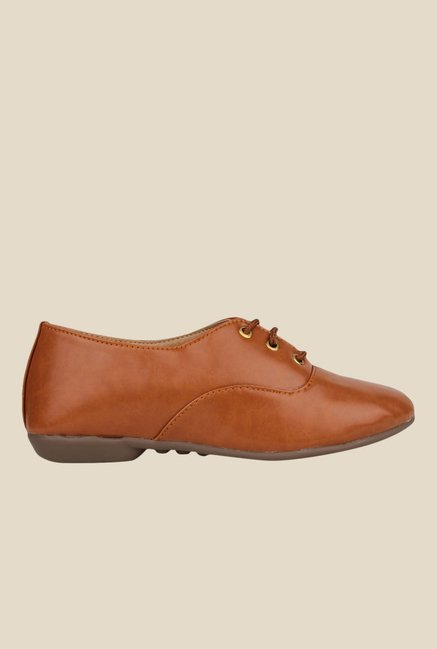 Shoetopia Tan Oxford Shoes