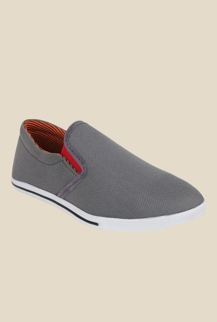 Shoetopia Grey & White Plimsolls