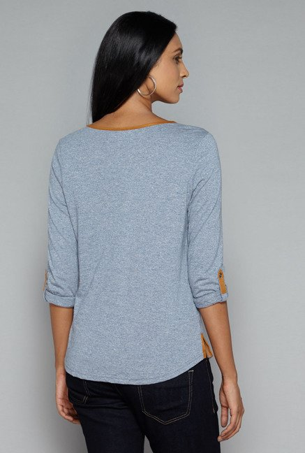 LOV by Westside Indigo Korry Top