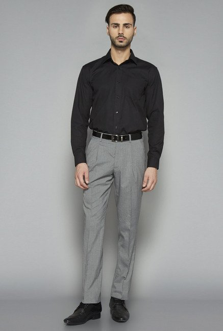 Weststreet by Westside Black Regular Fit Shirt