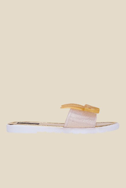 Shoetopia Golden Flat Sandals