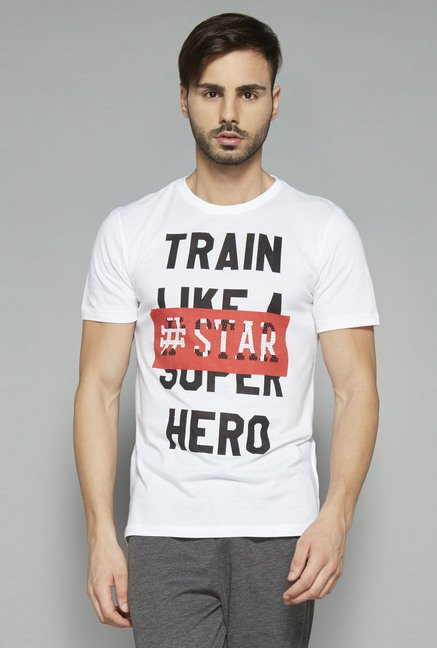 Westsport by Westside White Slim Fit T Shirt
