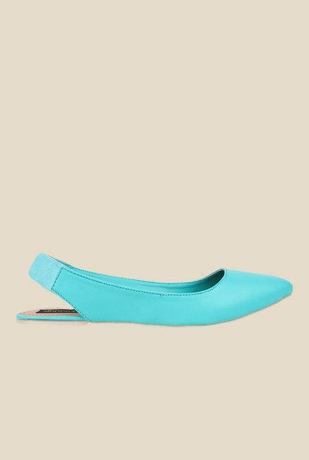 Shoetopia Turquoise Sling Back Sandals
