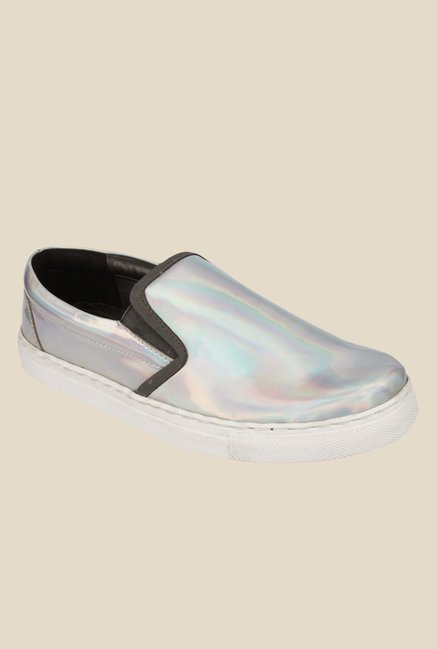 Spunk Renee Silver & Black Casual Shoes