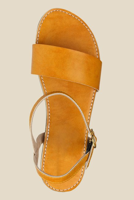 Shoetopia Yellow Ankle Strap Sandals