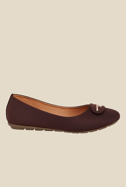 Shoetopia Brown Flat Ballets