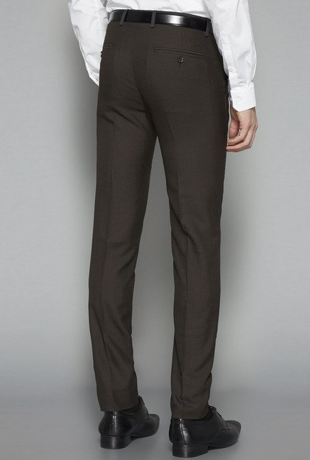 Weststreet by Westside Brown Ultra Slim Fit Trouser