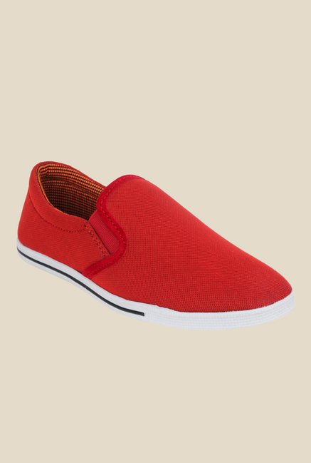 Shoetopia Red & White Plimsolls