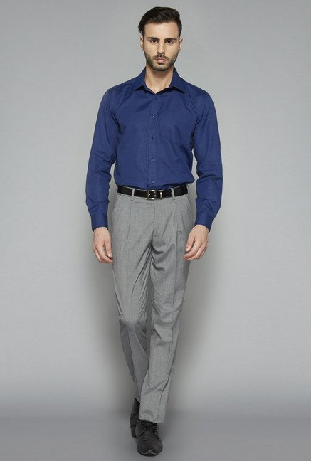 Weststreet by Westside Navy Regular Fit Shirt
