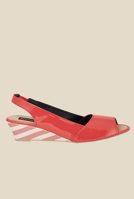 Shoetopia Red Sling Back Wedges