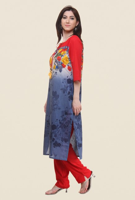 Shree Blue Printed Kurta