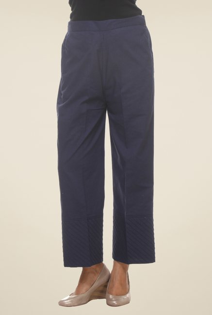 9rasa Navy Solid Pants