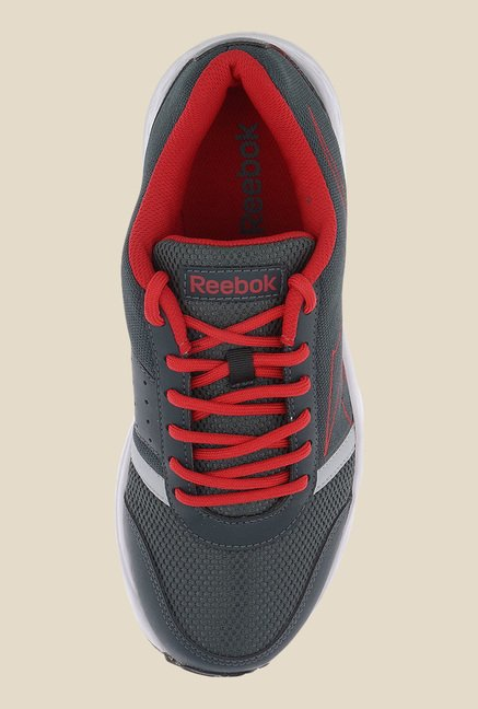 Reebok Grey & Red Running Shoes