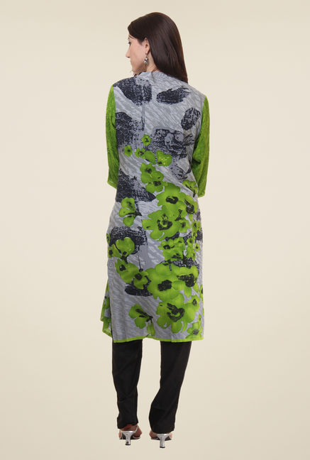 Shree Grey Floral Print Kurti
