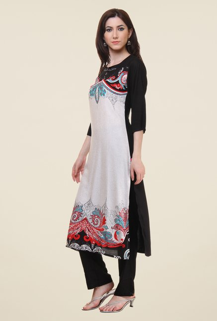 Shree White Printed Kurta