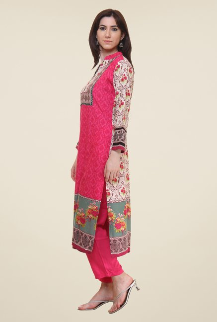 Shree Pink Printed Kurta