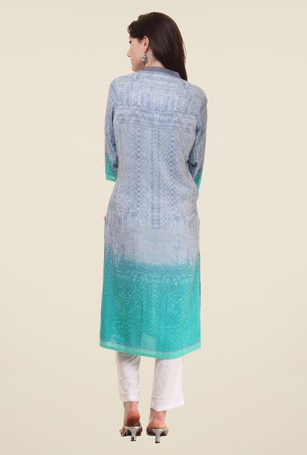 Shree Grey Printed Kurta