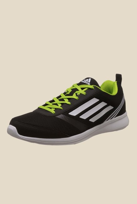 competitive price fffc3 5cbea Buy Adidas Adiray M Black  Green Running Shoes For Men Online At Tata CLiQ