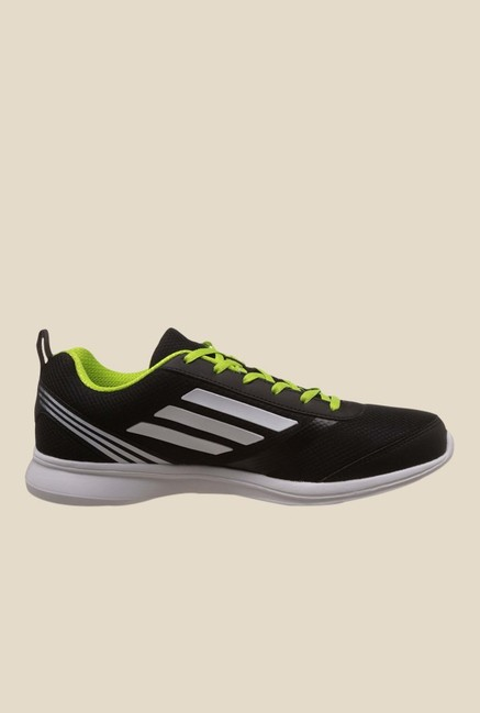 Adidas Adiray M Black & Green Running Shoes