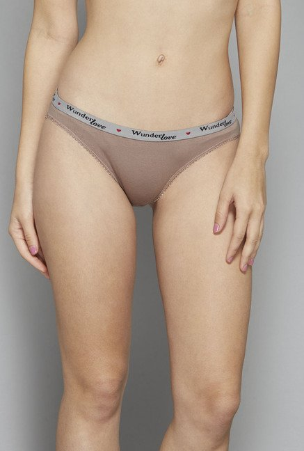 Wunderlove by Westside Coral, Taupe, Cream Brief (Pack Of 3)
