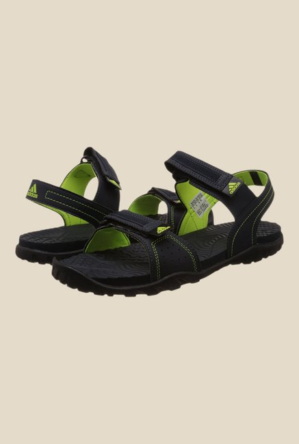 Adidas Aron Navy & Green Floater Sandals