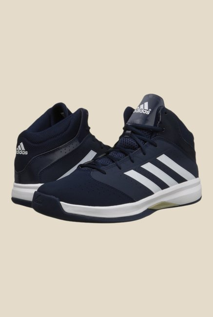 Adidas Isolation 2 Navy & White Basketball Shoes