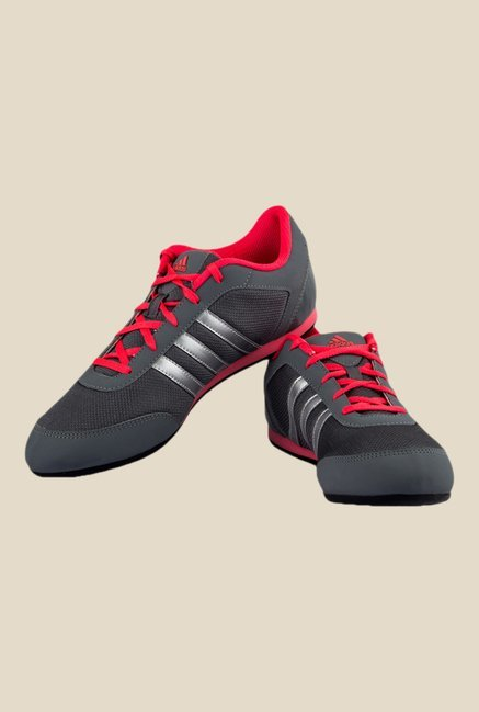 Adidas Vitoria II Grey & Red Running Shoes