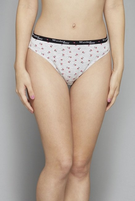 Wunderlove by Westside Grey & Pink Brief (Pack Of 3)