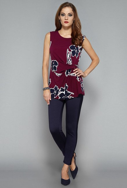 Wardrobe by Westside Maroon Ambler Blouse