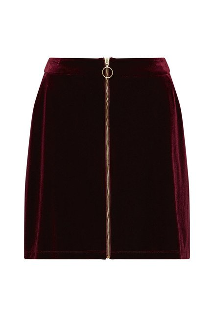 Nuon by Westside Dark Wine Brook Skirt