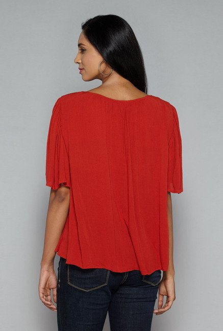 LOV by Westside Rust Jojo Blouse