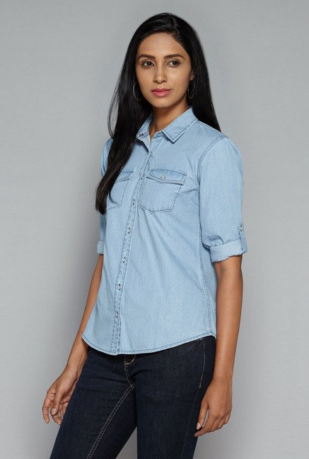 LOV by Westside Blue Sammy Blouse