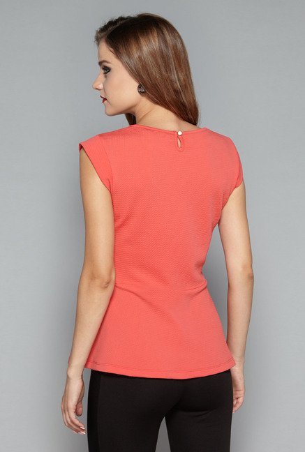 Wardrobe by Westside Coral Scoot Blouse