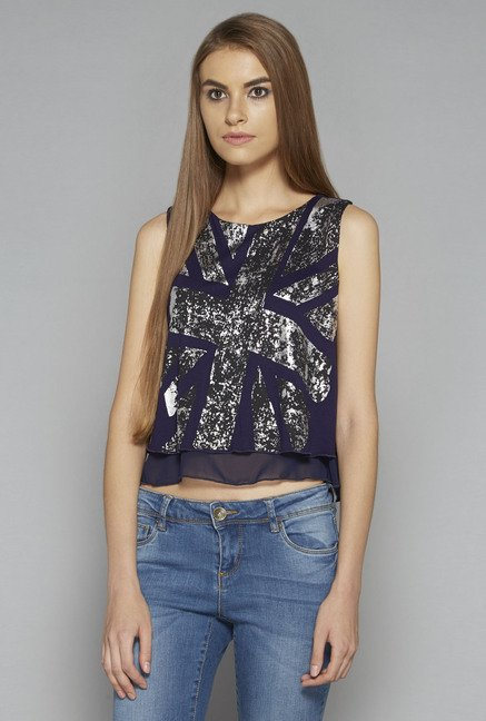 Nuon by Westside Navy Alice Top